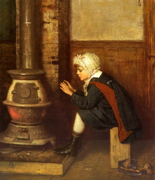 The Skater - Child Warming Hands In Studio
