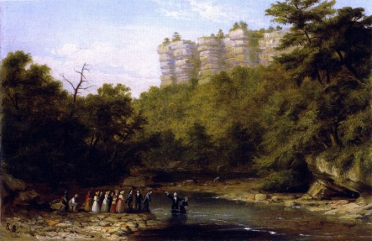 A Baptizing On The South Branch Of The Potomac, Near Franklin, Virginia