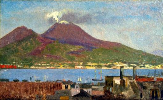 Bay Of Naples With Vesuvius