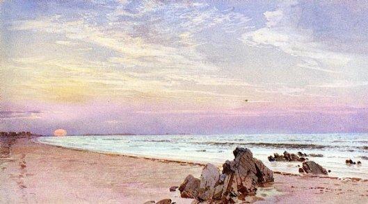 Beach With Rising Sun, New Jersey