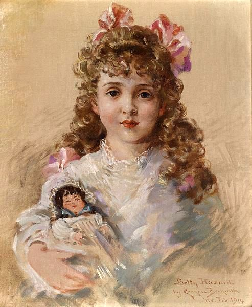 Betty Hazard With Her Favorite Doll