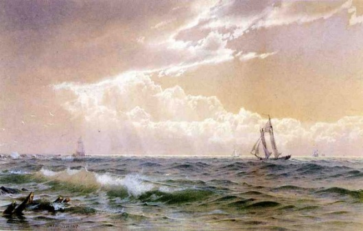 Coastal Scene With Sailboats