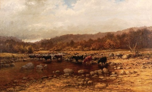 Cows Crossing The Brook