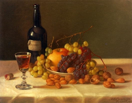 Fruit And Wine Glass
