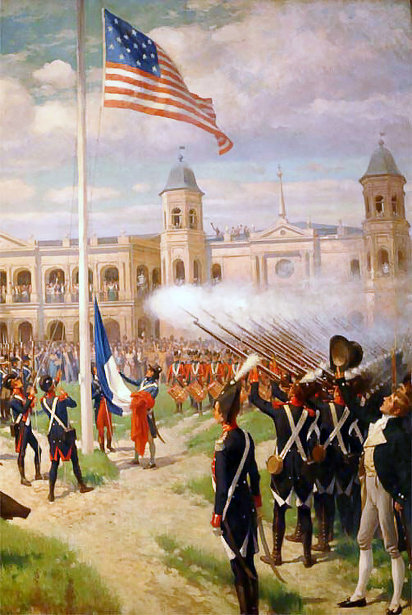 Hoisting Of American Colors Over Louisiana - Louisiana Purchase