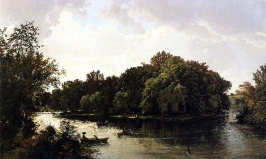 Lake Scene - Boating
