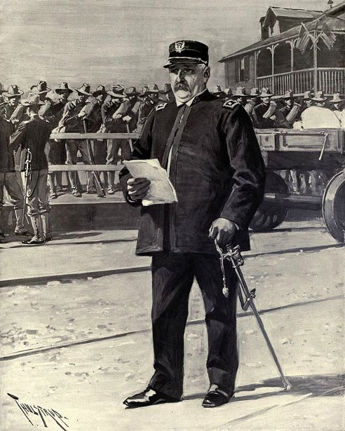 Major General William R. Shafter Directing The Embarkation Of Troops At Port Tampa