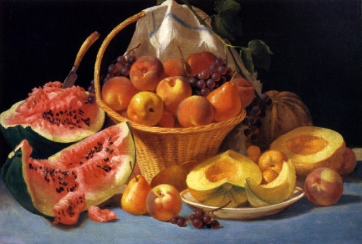 Melons, Peaches And Grapes