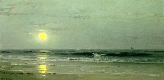 Moonrise Over The Beach