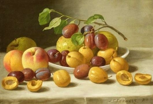 Peaches, Plums And Apples