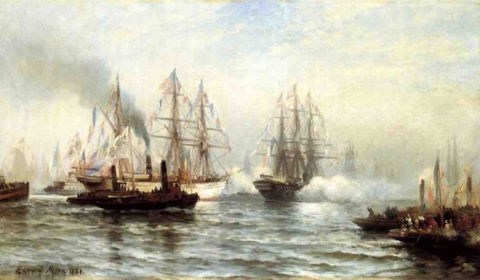 Reception Of The Isere In New York Bay, June 20, 1885