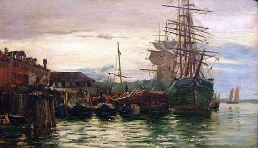 Sailing Ships In Harbour