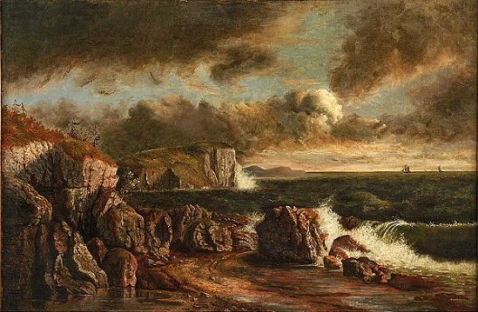 Seascape With Rocky Shoreline