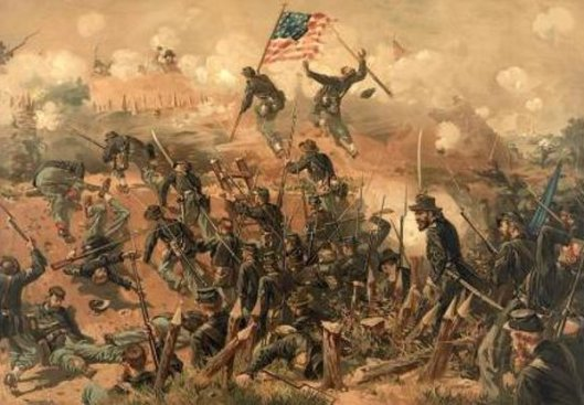 Siege Of Vicksburg - Assault On Fort Hill
