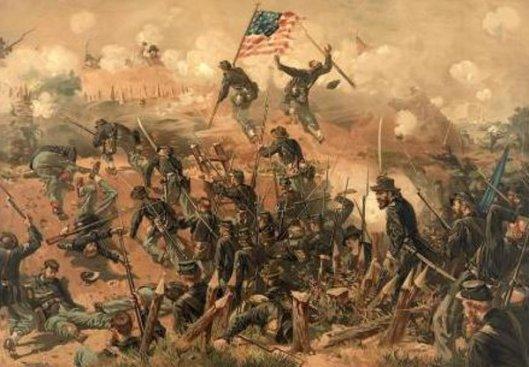 Siege Of Vicksburg - Assault On Fort Hill