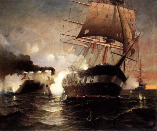 Sinking Of The Cumberland By The Merrimack