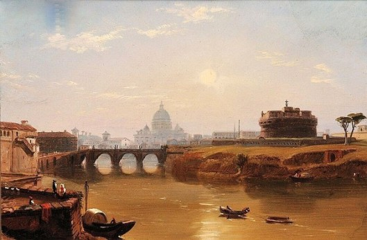 St. Peter's And The Castle And The Bridge Of Sant'Angelo, Rome