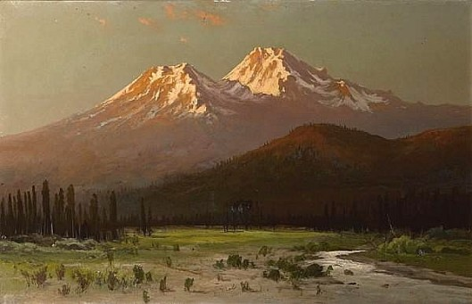 Sunset On Mount Shasta From Sissons, California