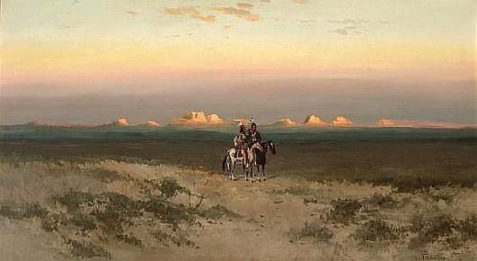 Two Indians In The Utah Desert