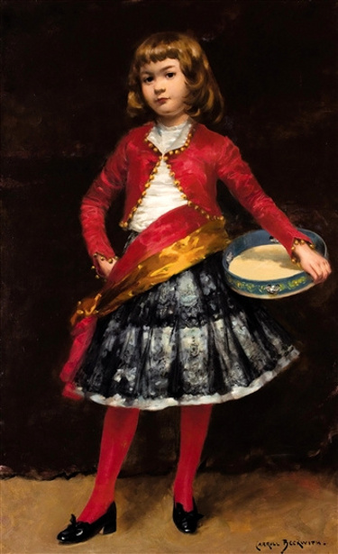 Young Girl With A Tambourine
