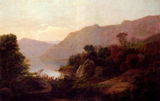 A Mountainous Lake Landscape