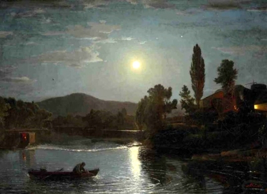 A Night River Scene