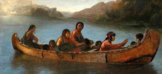 Canoe Of Indians