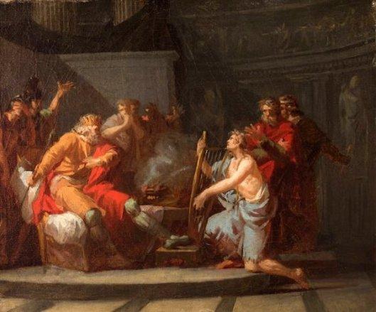 David Playing Before Saul