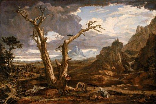 Elijah Fed By The Ravens - Elijah In The Desert