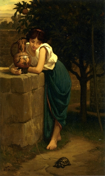Etruscan Girl With Turtle