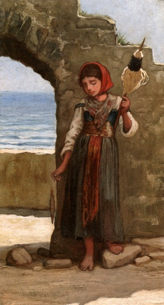 Girl With Distaff
