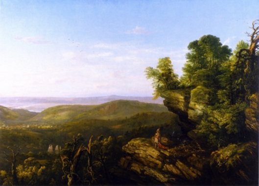 Hudson River Landscape With Indian