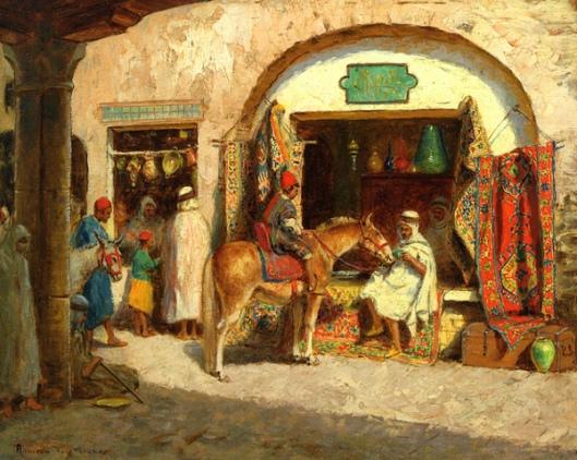 In The Market - Carpet Shop, Algiers