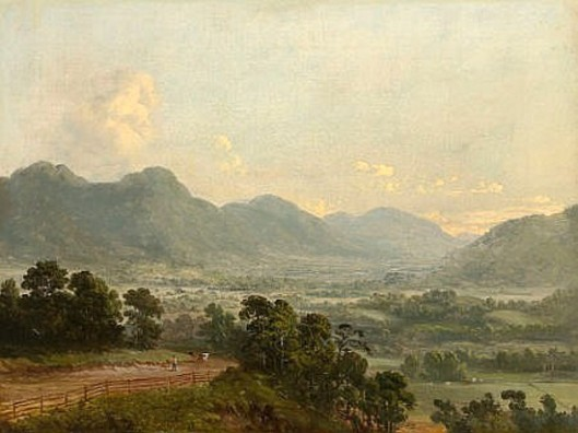Landscape With Broad Valley And Distant Mountains