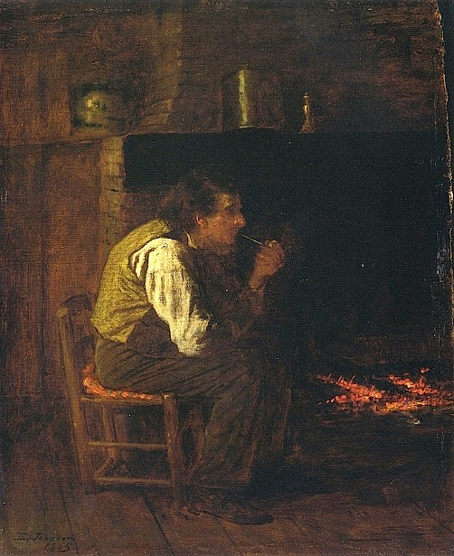 Maine Interior - Man With Pipe