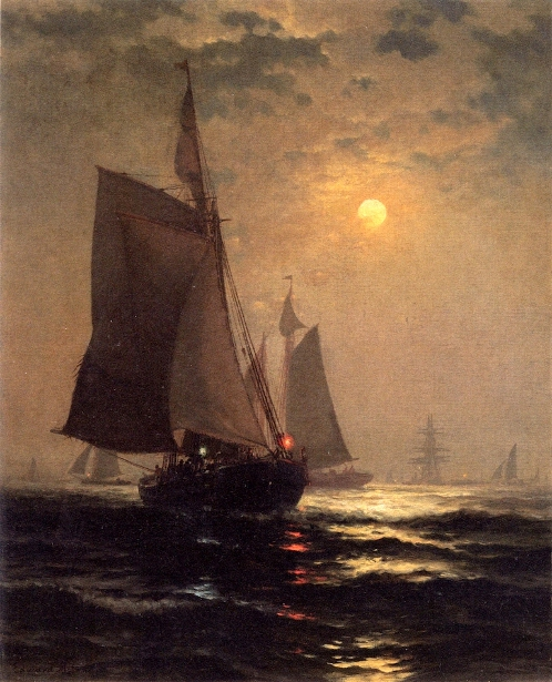 Moonlight In New York Harbor