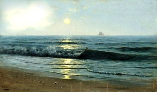 Moonlight Sail - A New England Coastal View