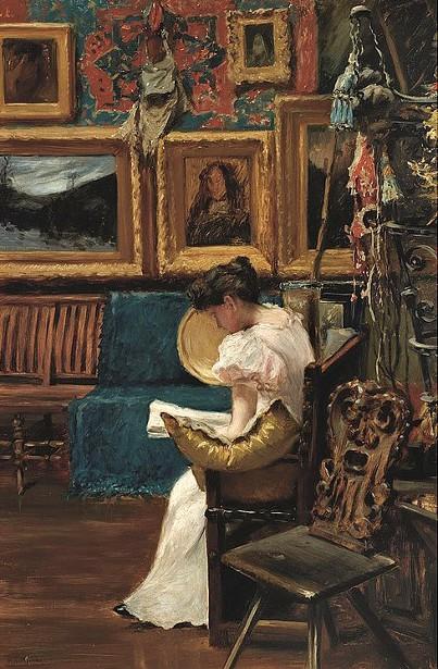 Mrs. William Merritt Chase In Chase's Studio