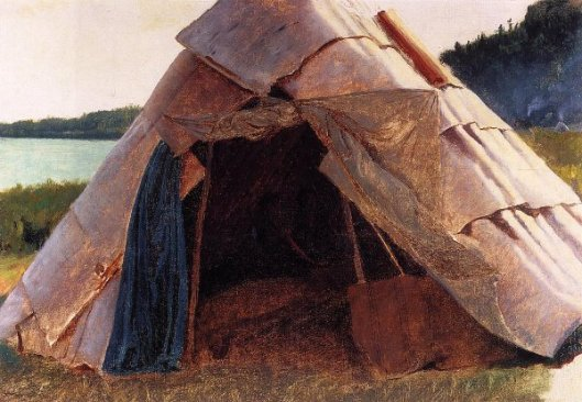 Ojibwe Wigwam At Grand Portage
