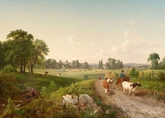 Summer In The Country - Landscape With Cows