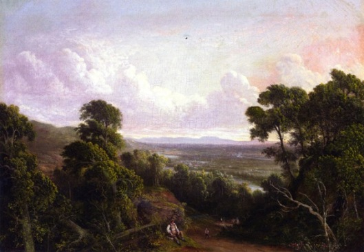 View Of Mount Ida From Troy, Looking Toward Albany, New York