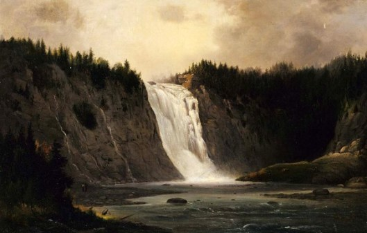 Waterfall On Mont-Morency