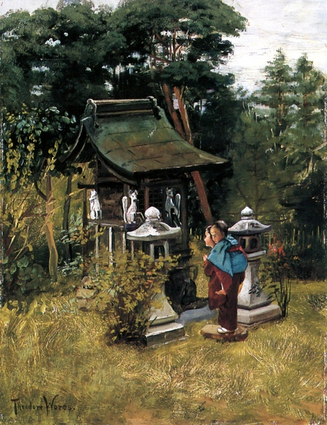 Children At A Shrine