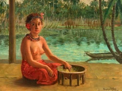 Making Kava, Samoa