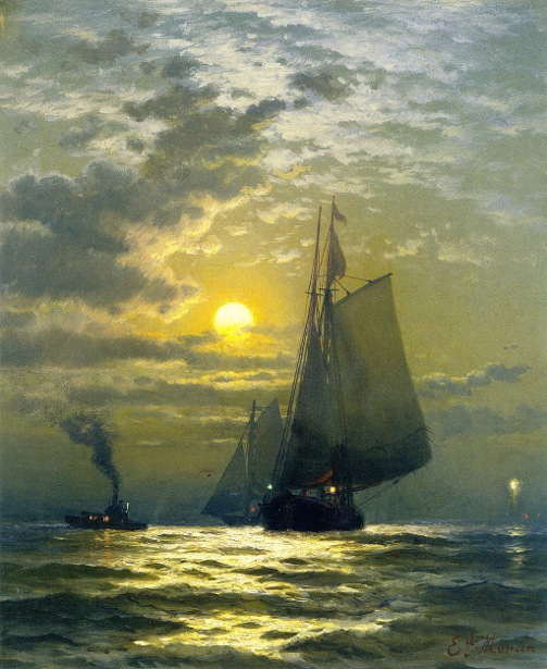 Sailing By Moonlight, New York Harbor