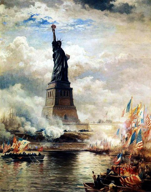 Unveiling The Statue Of Liberty - Statue Of Liberty Enlightening The World
