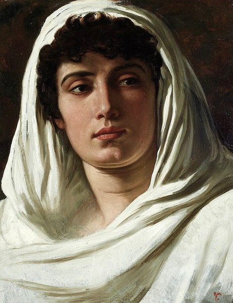 Woman Draped In White