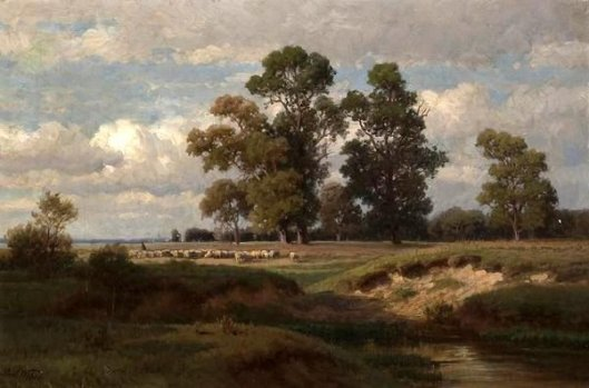 A Pastoral Landscape With A Shepherd And His Flock