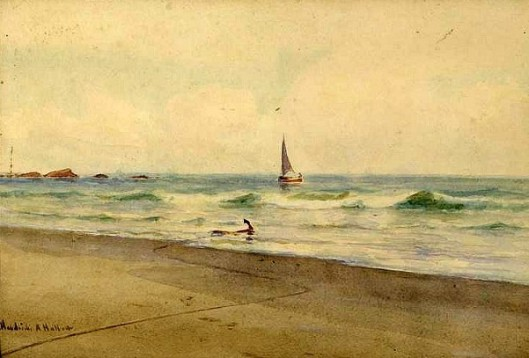 Coastal Scene With Skiff