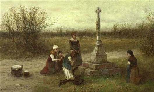 Family By A Cross